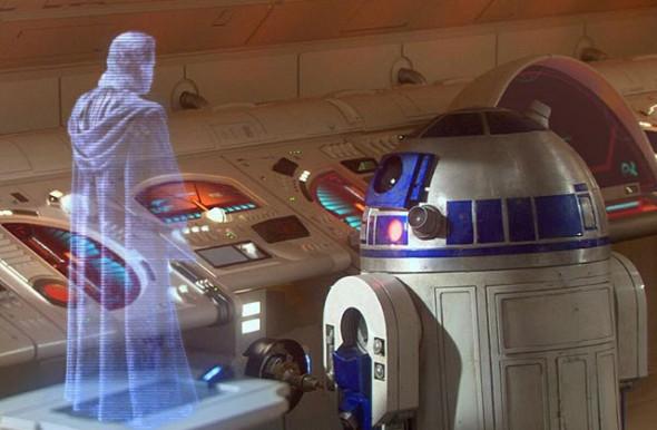 R2D2 y el holograma de Michael Jackson