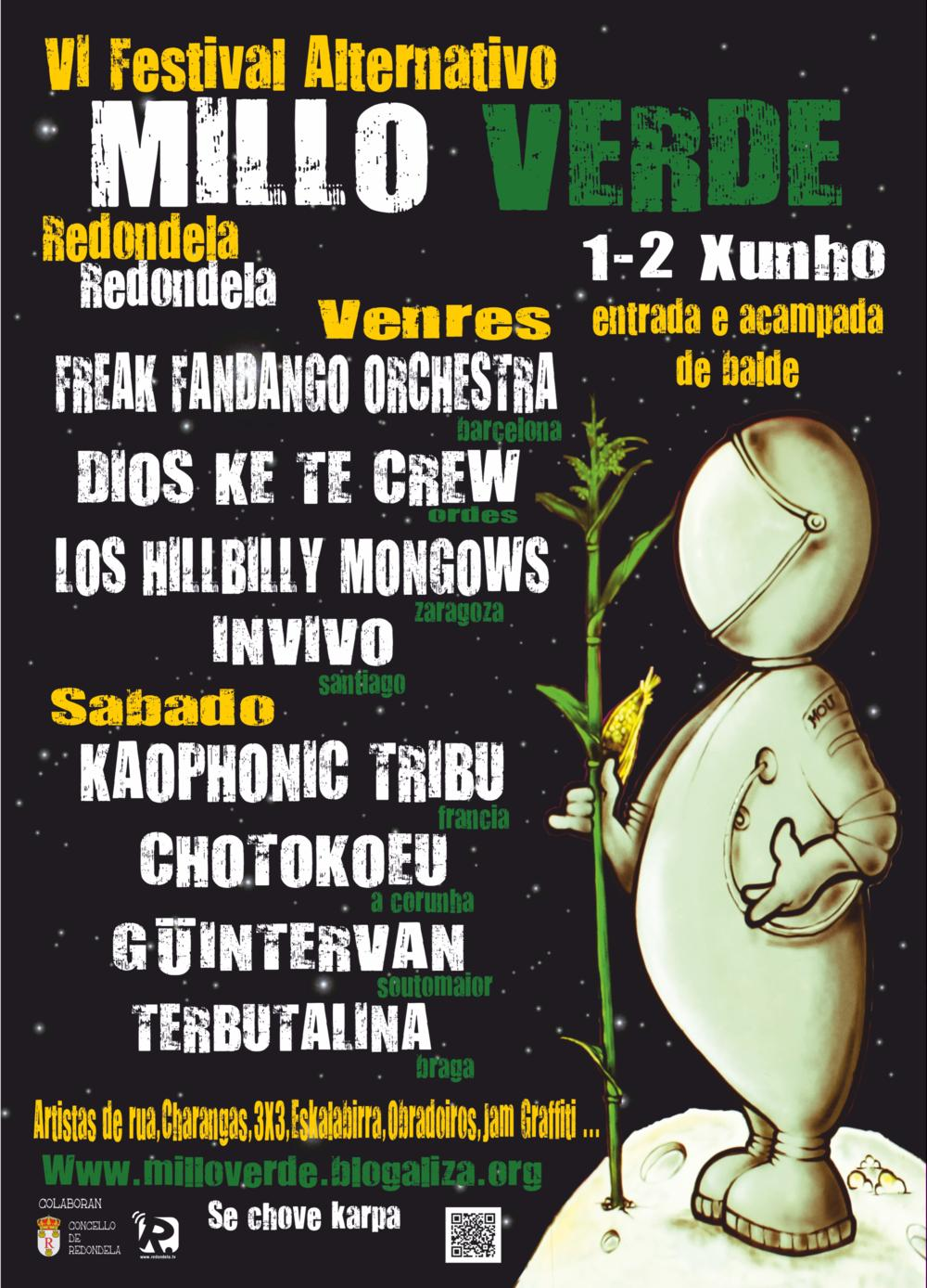 Cartel VI Festival Alternativo Millo Verde