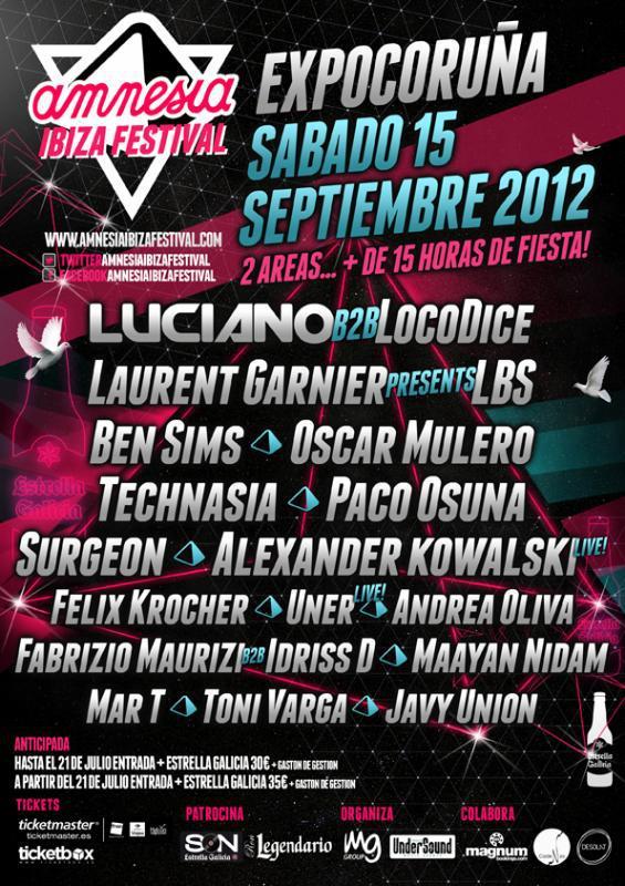 Amnesia Ibiza Festival 2012
