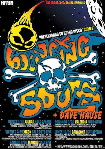 The Bouncing Souls - Tour en España