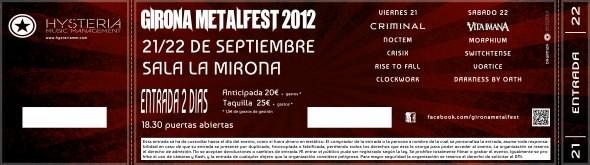 Girona Metalfest 2012 - Entrada