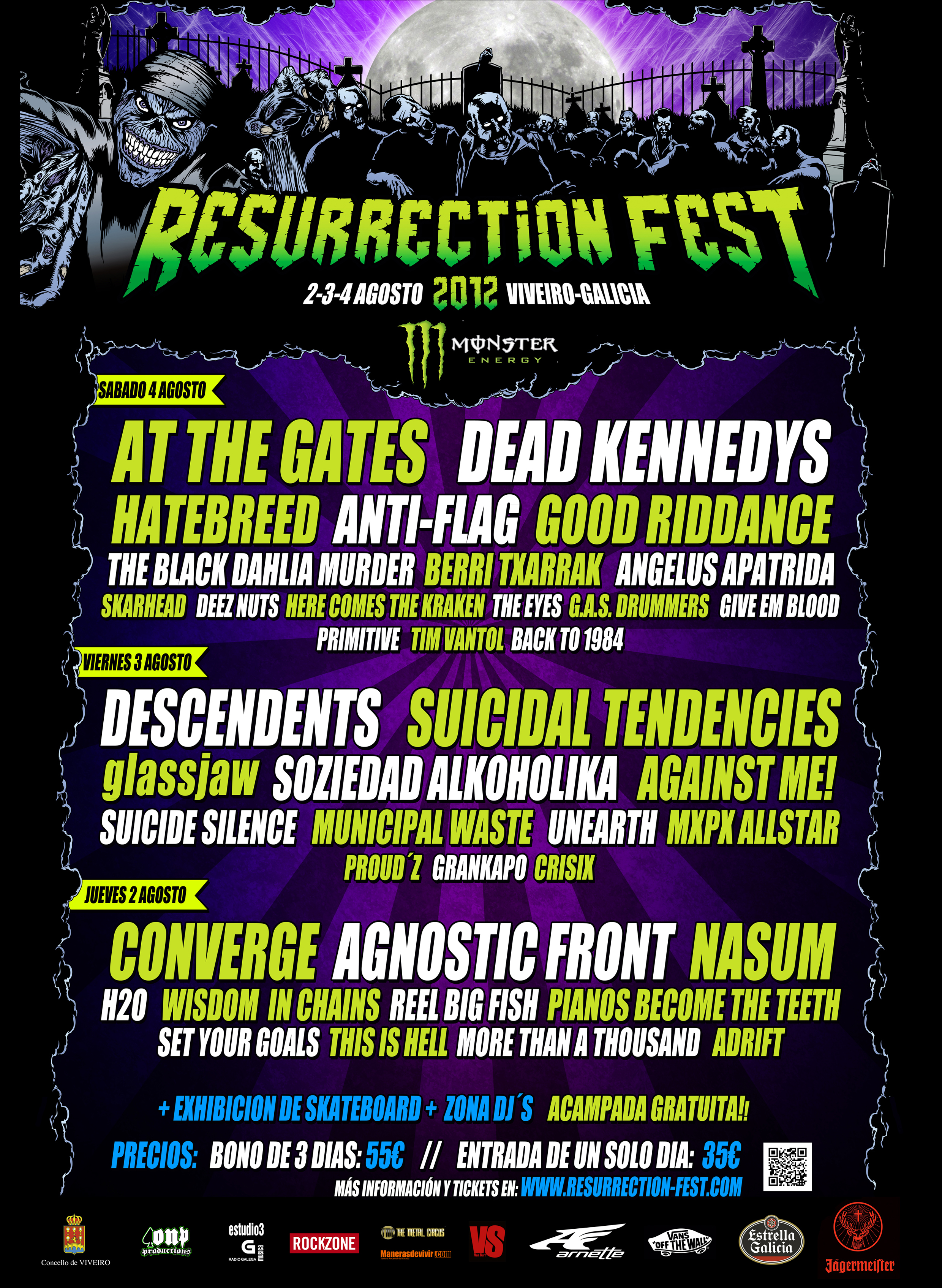 Resurrection Fest 2012 - Cartel