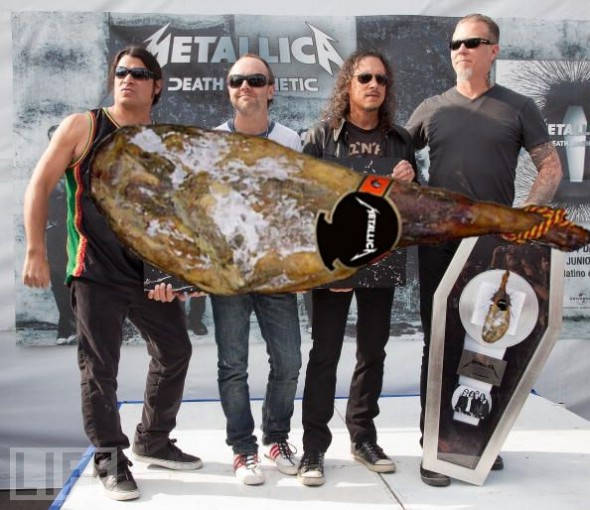 Metallica y sus jamones
