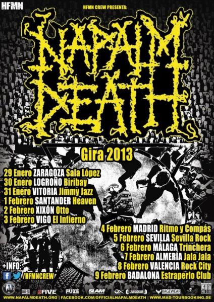 Napalm Death gira 2013