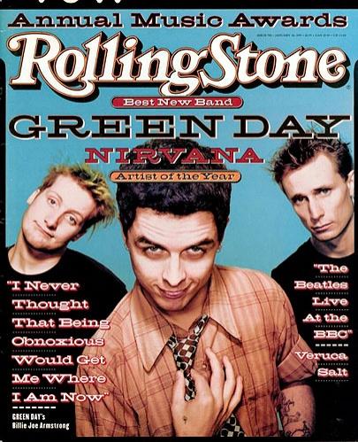 Green Day - Portada Rolling Stone