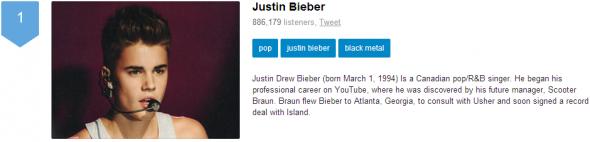 Justin Bieber Black Metal