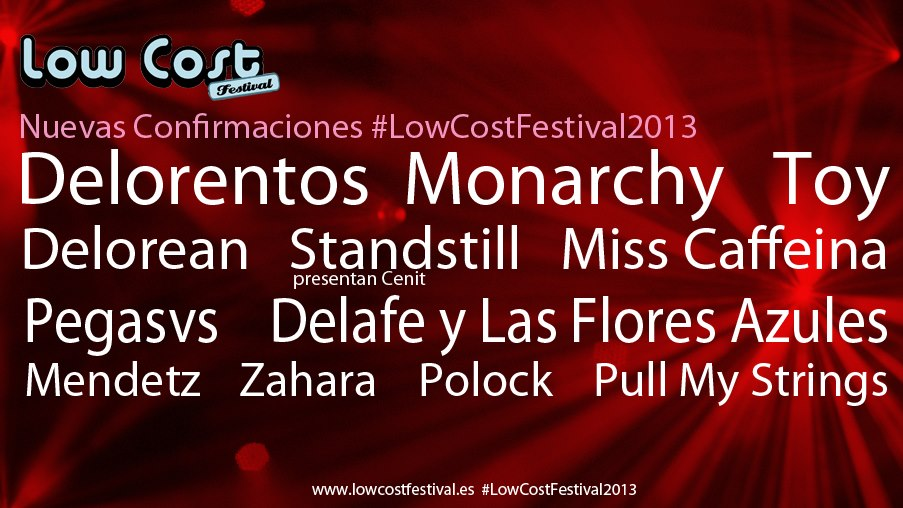 Low Cost Festival - Confirmaciones