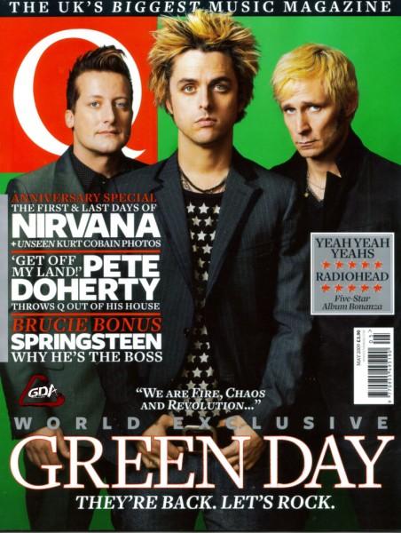 Portada de Q - Green Day