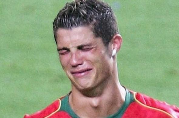 Cristiano Ronaldo llorando