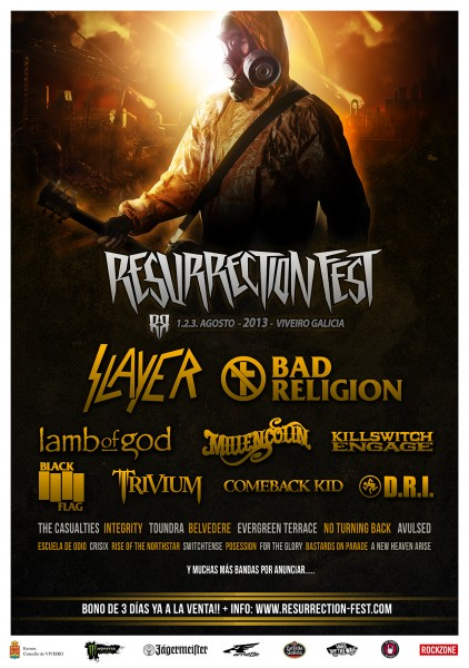 Resurrection Fest 2013 con Slayer