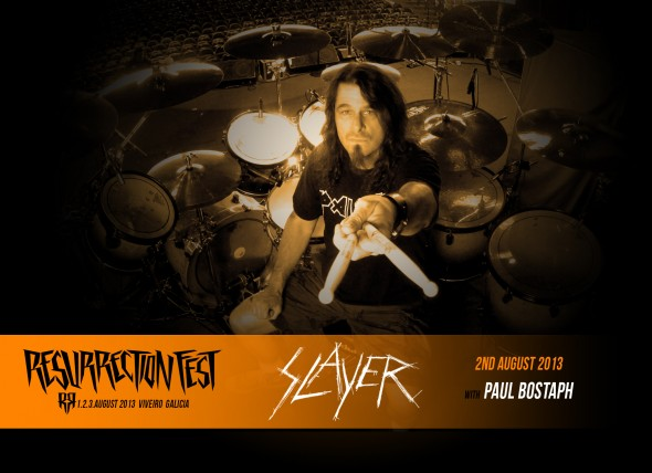 Resurrection Fest 2013 - Slayer - Paul Bostaph