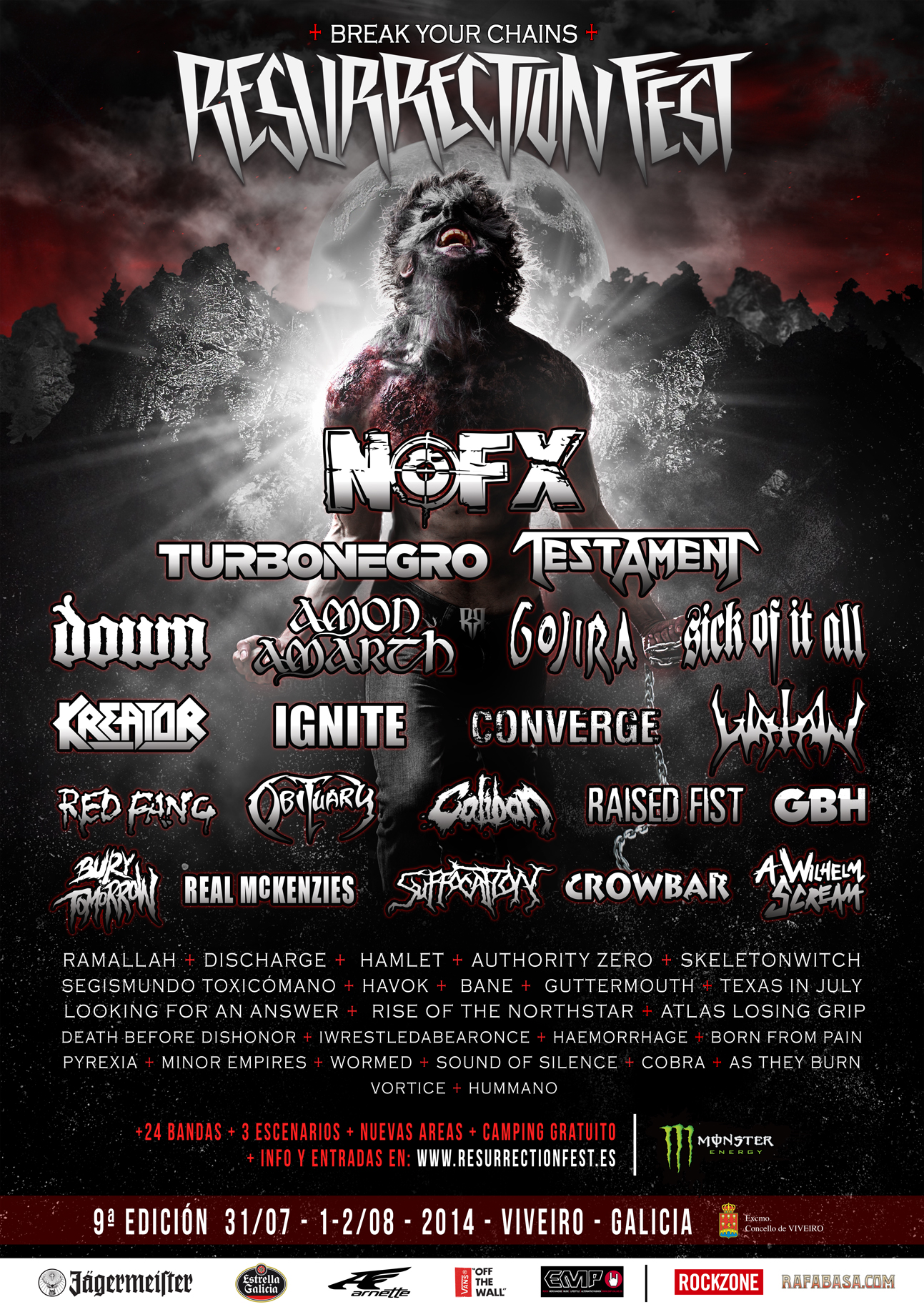 Resurrection Fest 2014 - Cartel 2