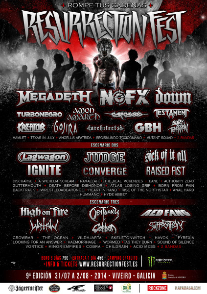 Resurrection Fest 2014 - Cartel 3 - SPA