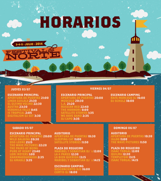 Horarios Festival do Norte